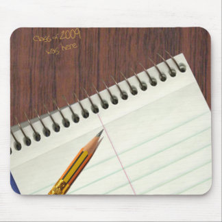 notepad with desk scratch mouse pad