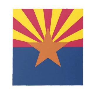 Notepad with Flag of Arizona States