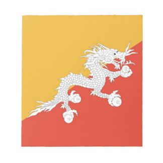 Notepad with Flag of Bhutan