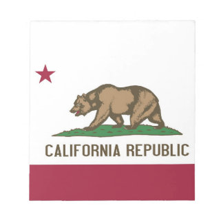 Notepad with Flag of California State