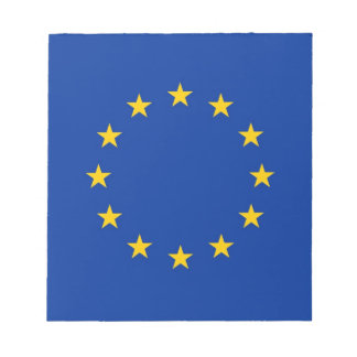 Notepad with Flag of European Union