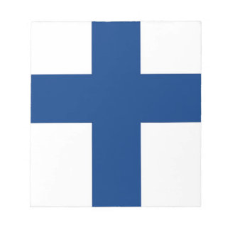 Notepad with Flag of Finland