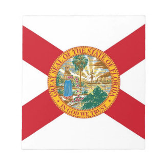 Notepad with Flag of Florida State