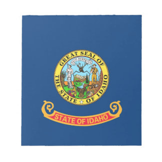 Notepad with Flag of Idaho State