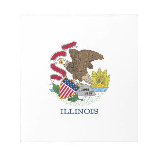 Notepad with Flag of Illinois State