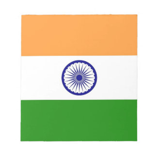 Notepad with Flag of India