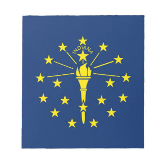 Notepad with Flag of Indiana State