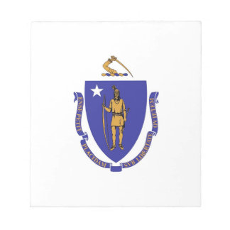 Notepad with Flag of Massachusetts State