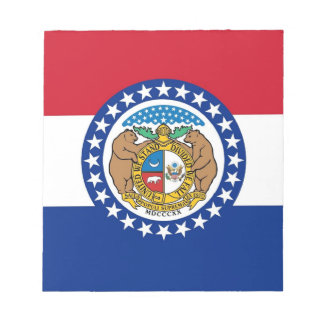 Notepad with Flag of Missouri State