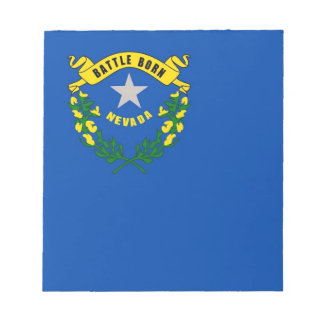Notepad with Flag of Nevada State