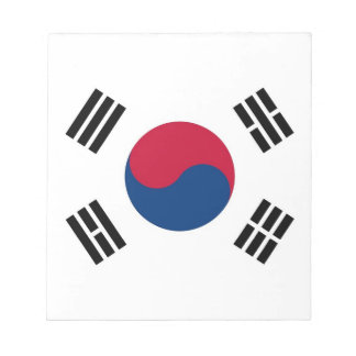Notepad with Flag of South Korea