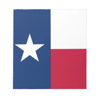 Notepad with Flag of Texas State