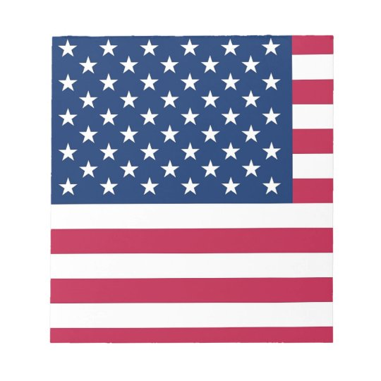 Notepad with Flag of United States of America