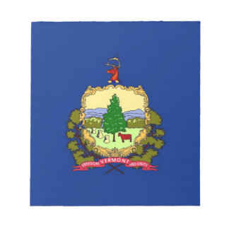 Notepad with Flag of Vermont State
