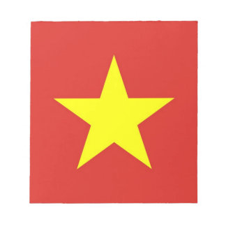 Notepad with Flag of Vietnam