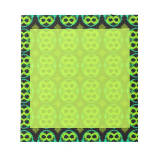 Notepad with Fun Green Patterned Border!