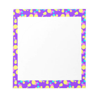 Notepad with Fun Purple and Yellow Border