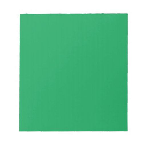 Notepad with Medium Green Background