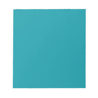 Notepad with Medium Teal Green Background