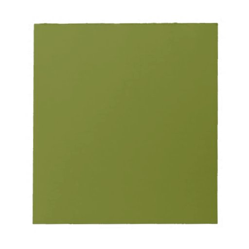Notepad with Olive Green Background
