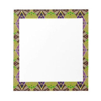 Notepad with Olive Patterned Border
