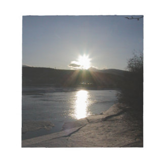 notepad with photo of Yukon River