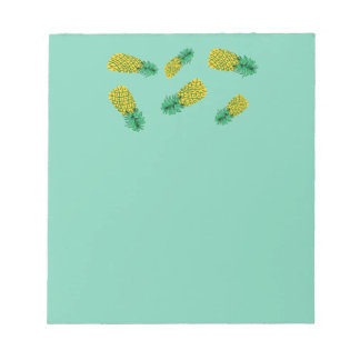 Notepad with Pineapple Pattern