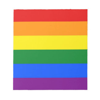 Notepad with Rainbow LGBT Pride Flag