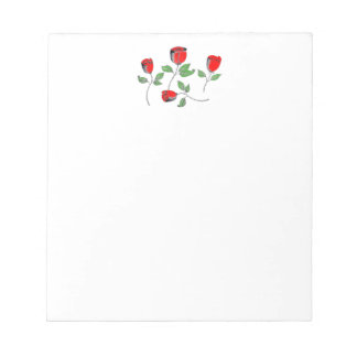 Notepad with Roses Header