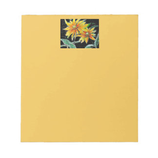 Notepad with Sunflower Art