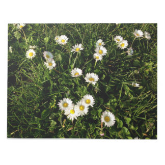 Notepad with wild flowers picture