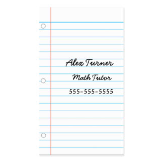 NotePaper Double-Sided Standard Business Cards (Pack Of 100)