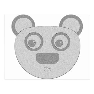 Notepaper panda postcard