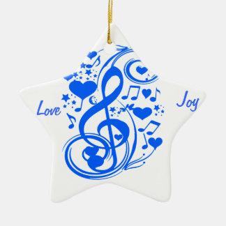 Notes 0f Love_ Ceramic Ornament