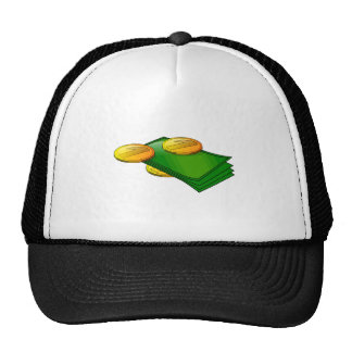 Notes and coins mesh hats