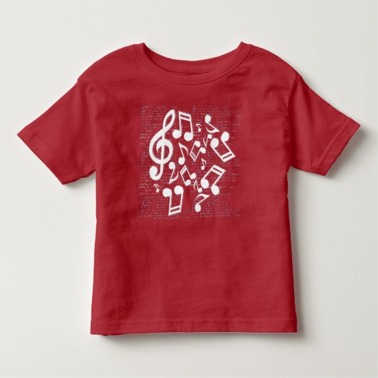 notes and lyrics toddler t-shirt
