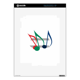 Notes and Staff Decal For iPad 2