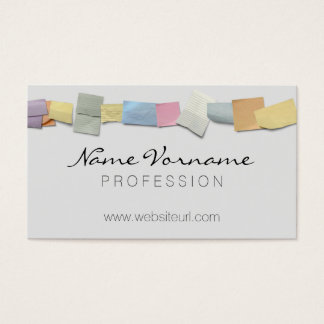 notes business card