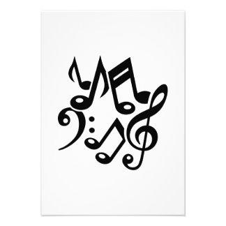 Notes classic music custom invitations
