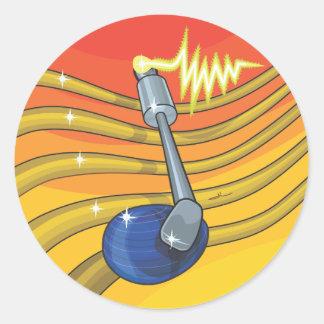 notes de fruit - DJ Classic Round Sticker