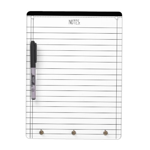 Notes Dry Erase Board