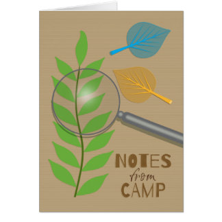 Notes from Camp for Kids to Send Home Leaf Study