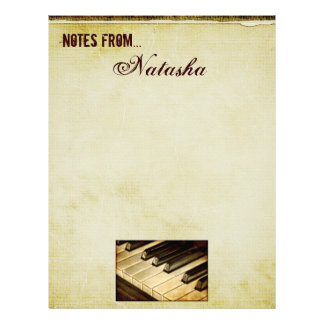 Notes From...Piano Keys Letterhead