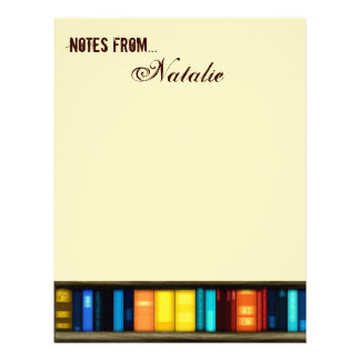 Notes From...With Books Letterhead Stationery
