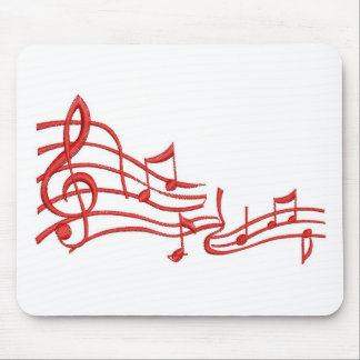notes imitation of embroidery mouse pad