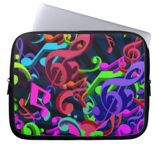 Notes in color__ laptop sleeves