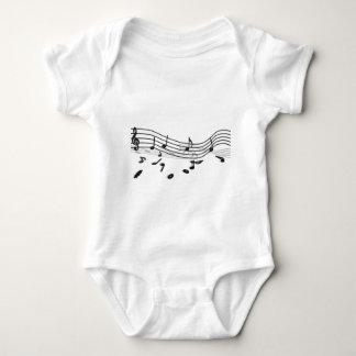 Notes, music baby bodysuit