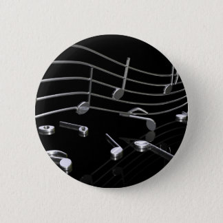 Notes, music, black button