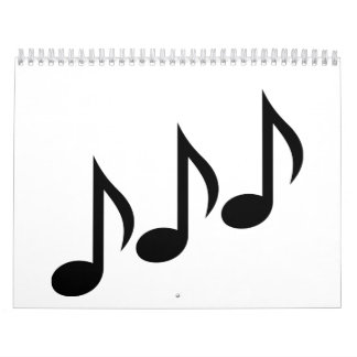 Notes music calendar