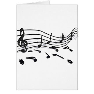 Notes, music card